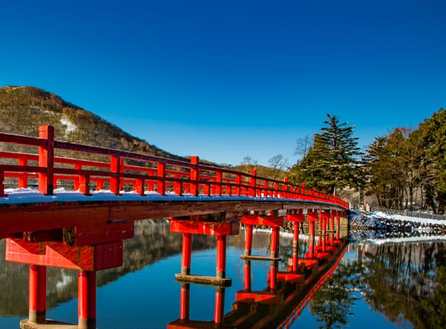 赤城神社 啄木鳥橋